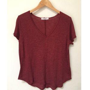 NWOT Project Social T Wearever t Shirt Burgundy